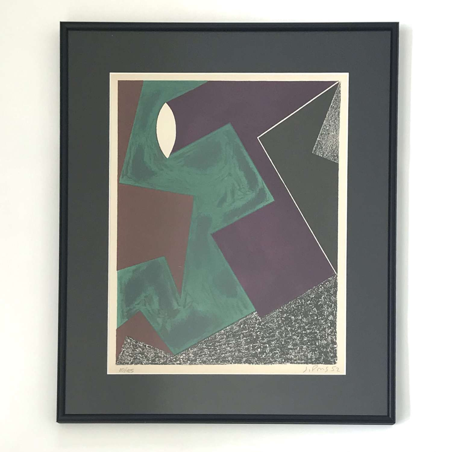 Jean Pons Lithograph abstract composition France 1952