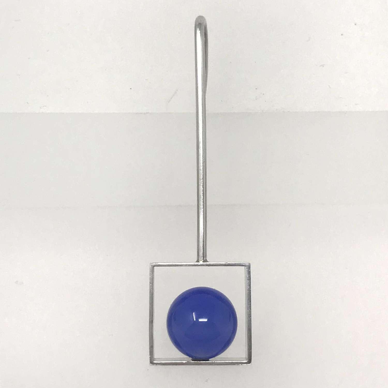 Arne Johansen modernist pendant with blue ball, Denmark c1960s