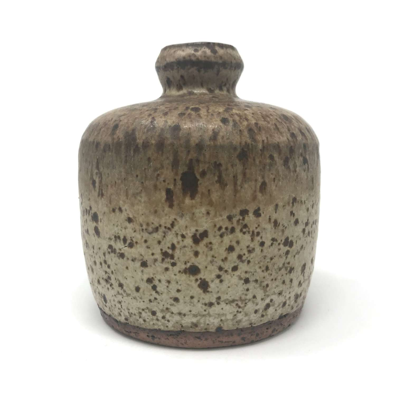 Rolf Palm unique stoneware vase with mottled glaze 1970