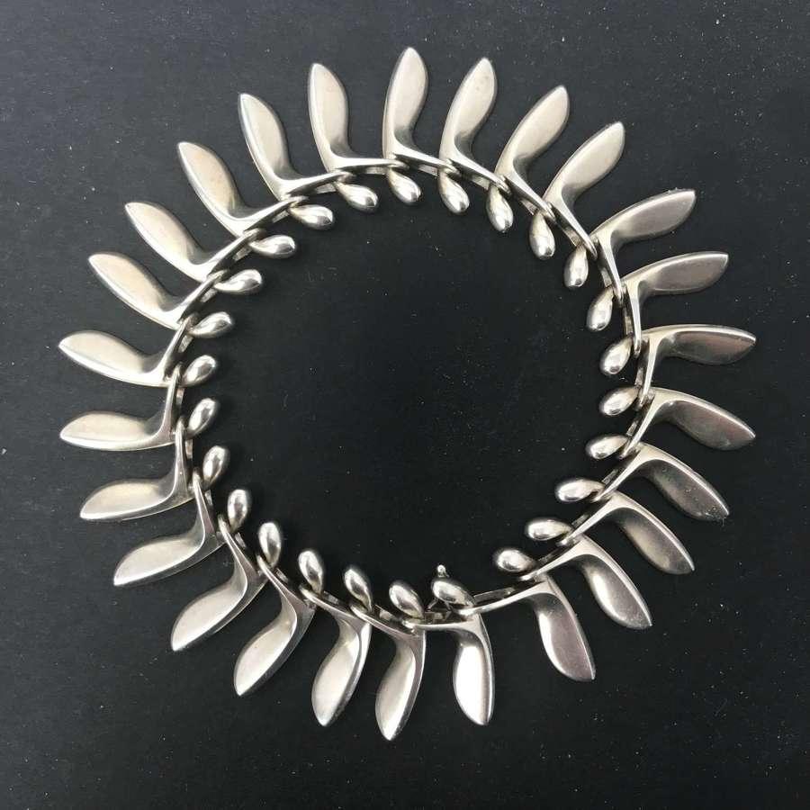 Georg Jensen 'Sycamore seed pod' bracelet, Denmark