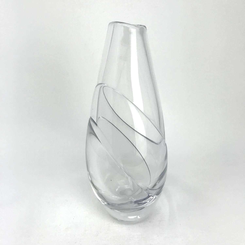 Ingeborg Lundin glass vase Orrefors Sweden c1951