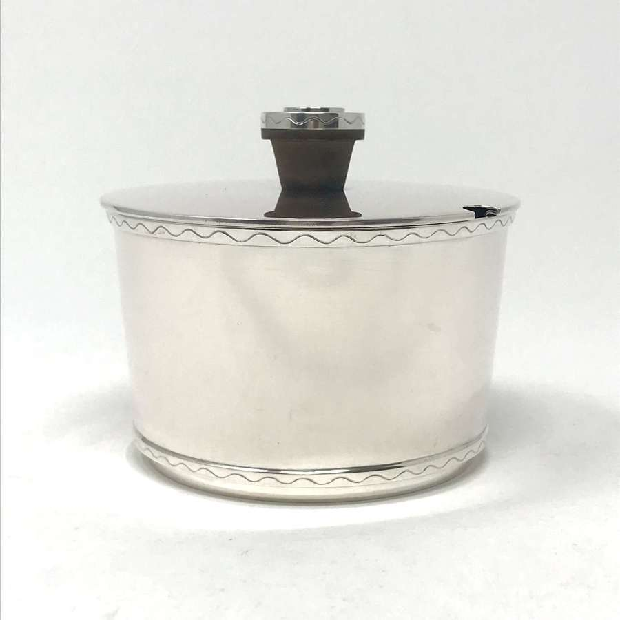 Hugo Grün modernist silver sugar bowl and lid 1948
