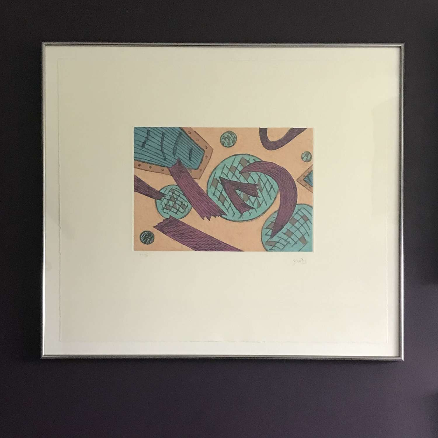 Henri Goetz Abstract lithograph Artist Proof France c1960s